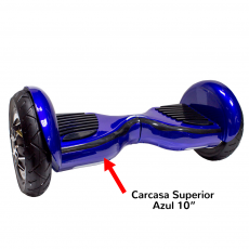 "Carcasa Superior Scooter Smart Balance 10"" Azul"